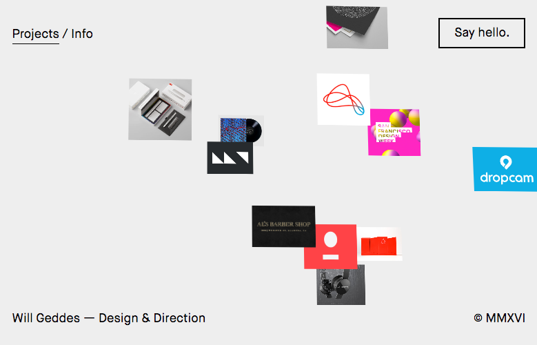 Experimental composition - Web Design Trends